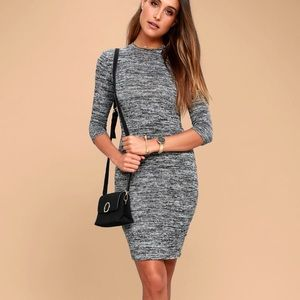 NWT gray midi bodycon dress 🌟